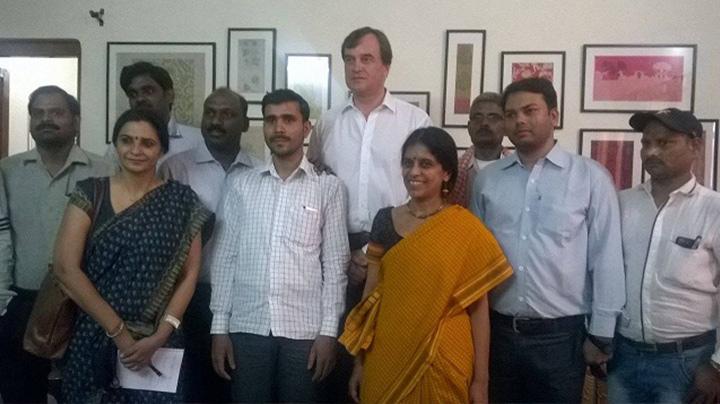British High Commissioner visits Varanasi Weavers Hub