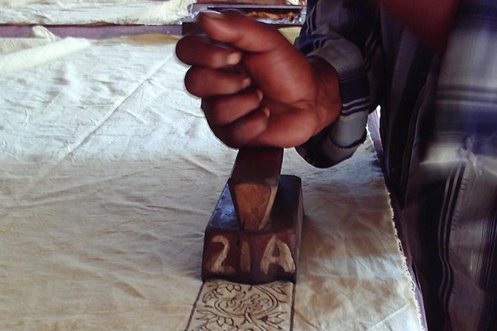 Handblock printing artisans in Rajasthan